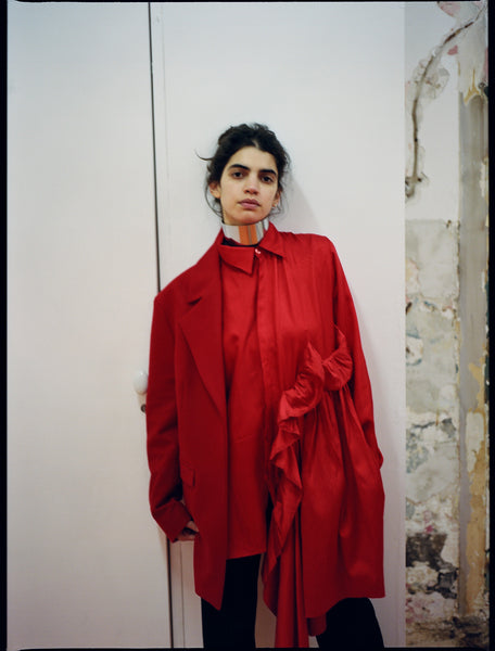 The Community - Sia Rosenberg - Deconstructed Blazer in Red