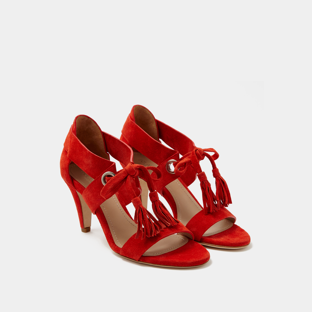 Sclarandis Alice Sandal Red Suede