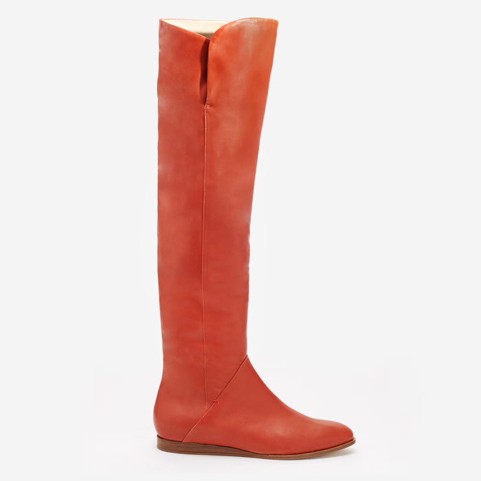 Sclarandis - Anna Over the knee boot - Rust Calf Leather  - Side View