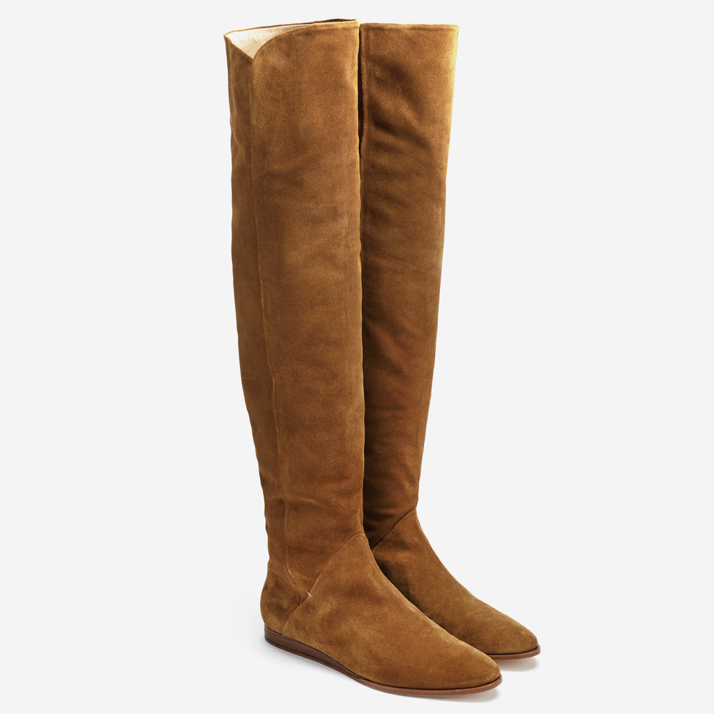 Sclarandis - Anna Over The Knee Boot - Tan Suede - Isometric View