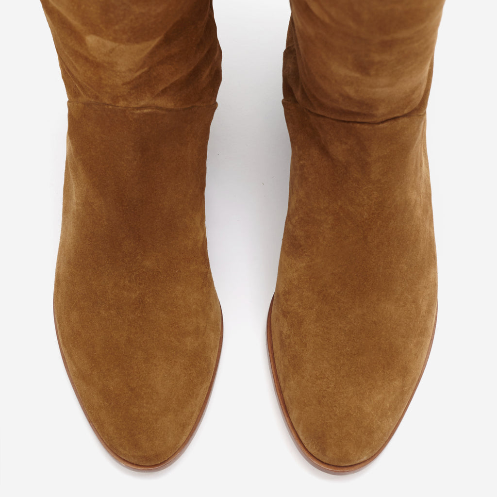 Sclarandis - Anna Over The Knee Boot - Tan Suede - Top View