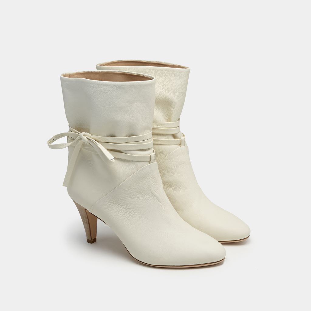 Sclarandis Sonia Boot Off White Nappa