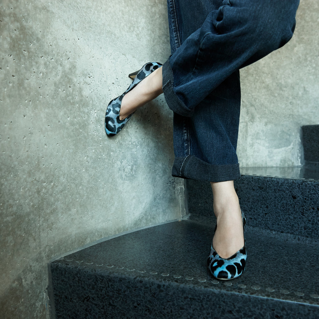 Sclarandis - Stella Pump - Blue & Grey Haircalf - Editorial