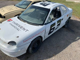 White Race Car - 1998 Plymouth Neon