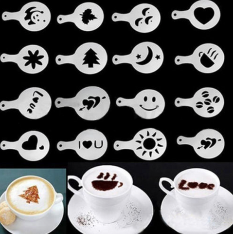 Coffee Latte Hot Chocolate Stencil Mould