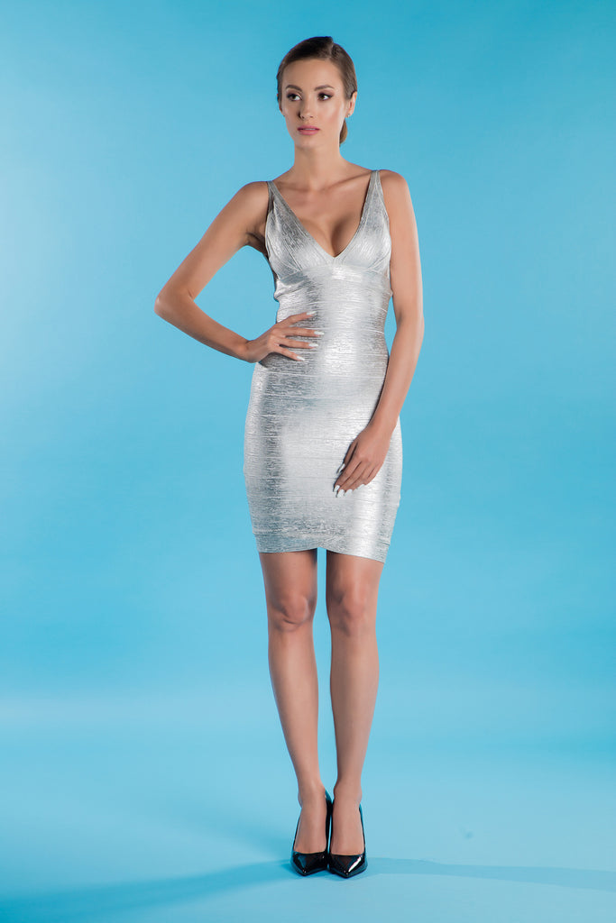 Silver Bandage Dress Laurissa