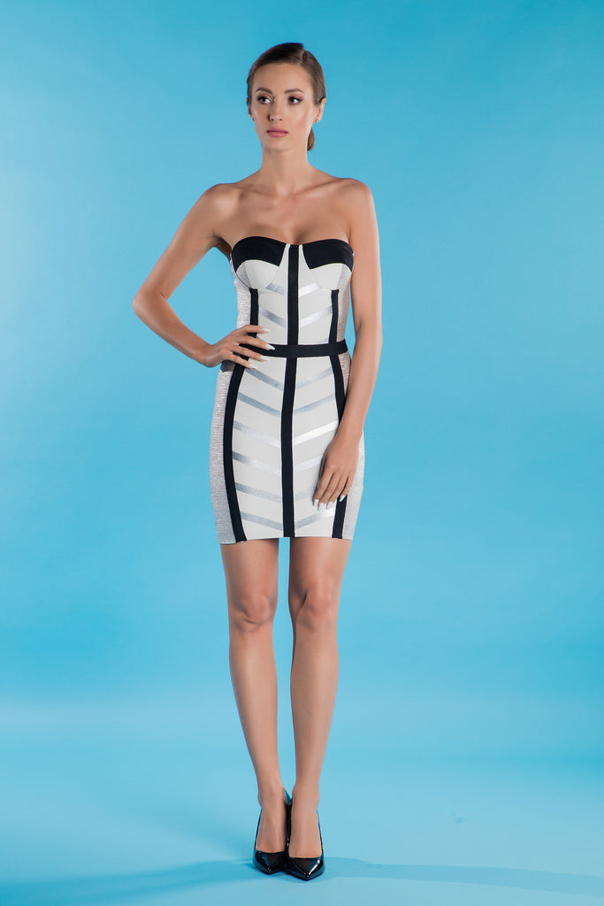 Silver Bandage Dress Gaia