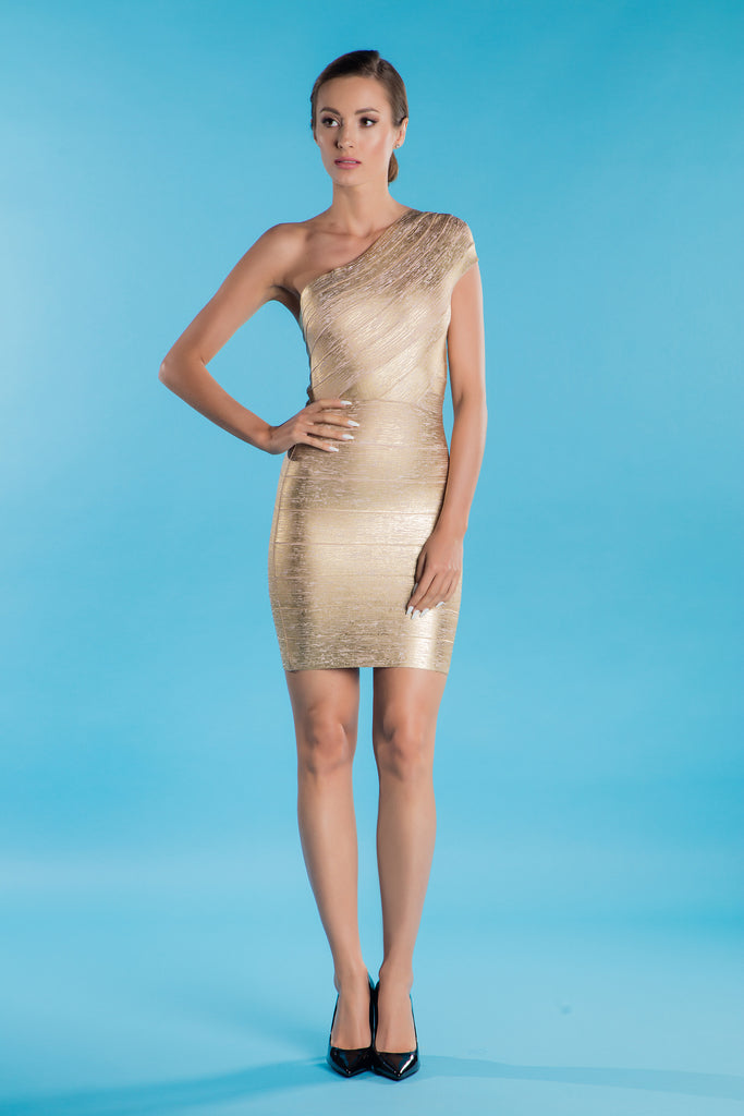 Gold Bandage Dress Celine