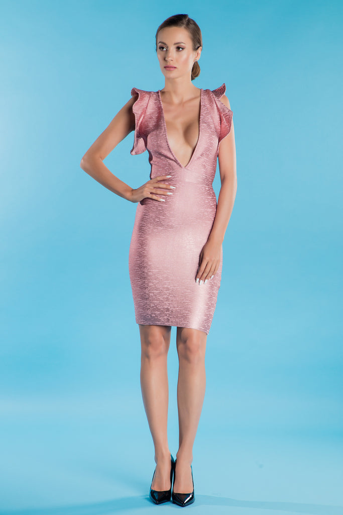 Pink Bandage Dress Alethea