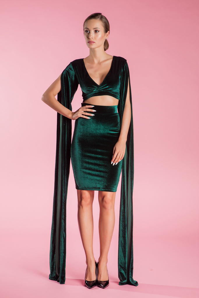 Velvet Green Evening Dress Valencia