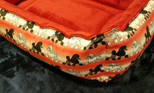 Poodle Bed - Red & White with Black & White Poodles