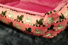 Poodle Bed - Pink with Black & White Poodles