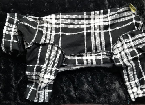Double brushed - black and white plaid