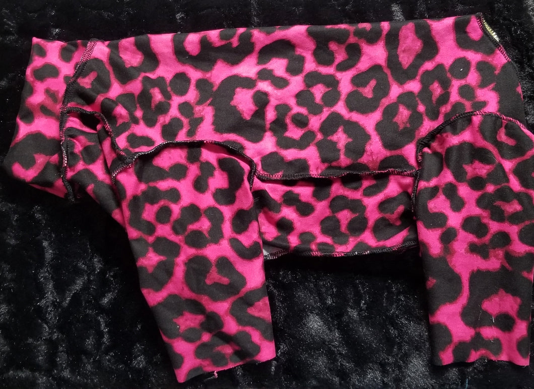 Double brushed - hot pink cheetah