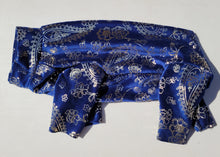 NEW! Pure Plush Fleece - Navy with gold metallic paisley