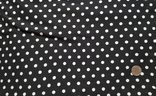 Double brushed - Black with white dots