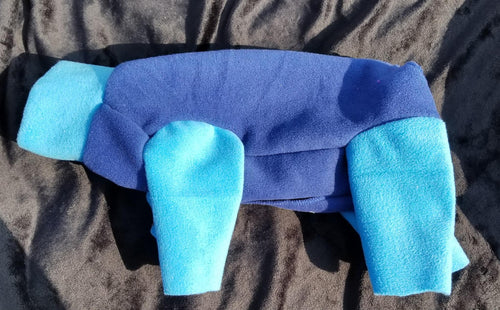 Plush Fleece - Blue with Blue