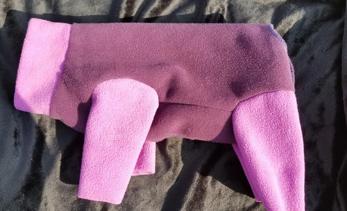 Plush Fleece - Grape with Lavendar