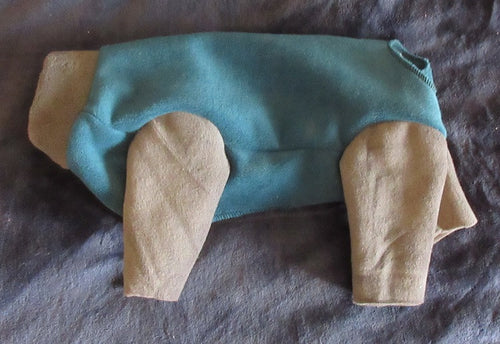 Luxe Fleece - Teal with Gray legs