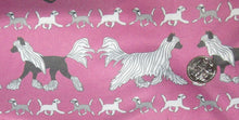Crested Jammie - Fleece or knit - Pink with Puppies