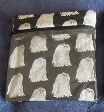 Leash Bag / Make-up Bag Maltese on black