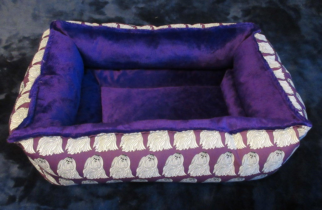 Maltese Bed - Purple