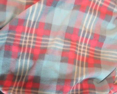 Microfleece - Blue & Pink Plaid