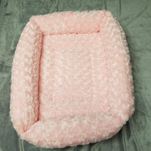 Faux Fur Rectangle Bed - Large