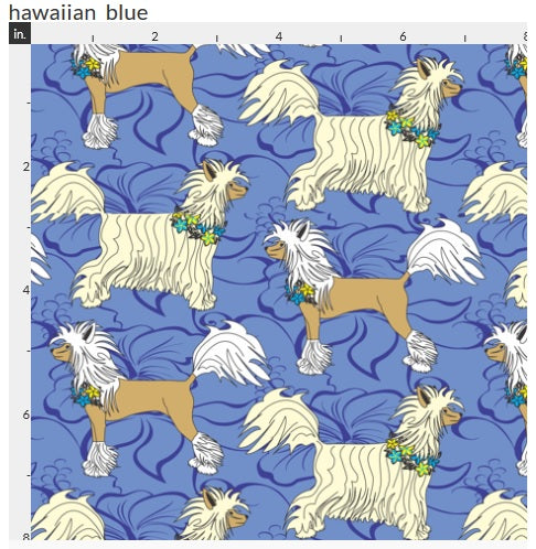 Crested Crate Mats - Blue Hawaiian