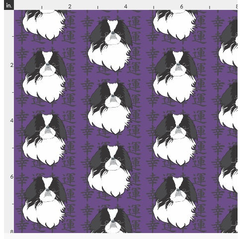 Japanese Chin Crate Mat - Purple