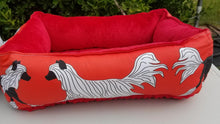 Crested Beds - LARGE Design Red Trotting