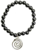 Hematite Gratitude Spiral Silver - Awesome Sauce Gifts