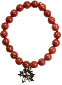 Red Jasper Promise Lotus Flower Silver - Awesome Sauce Gifts