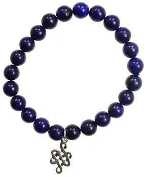 Lapis Frendship Eternal Knot Silver - Awesome Sauce Gifts