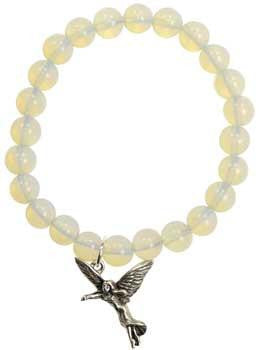 Rainbow Moonstone Protection Angel Silver - Awesome Sauce Gifts