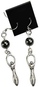 Hematite Goddess Earrings - Awesome Sauce Gifts