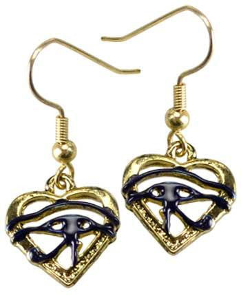 Eye Of Horus Heart Earrings - Awesome Sauce Gifts