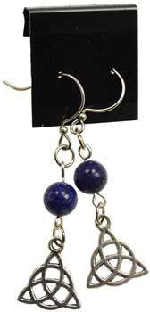 Lapis Triquetra Earrings - Awesome Sauce Gifts