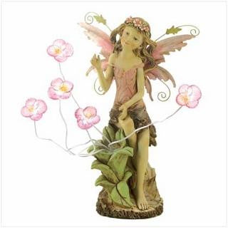 Peony Fairy Solar Statue - Awesome Sauce Gifts