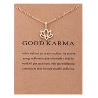Good Karma Statement Necklace with Pendant