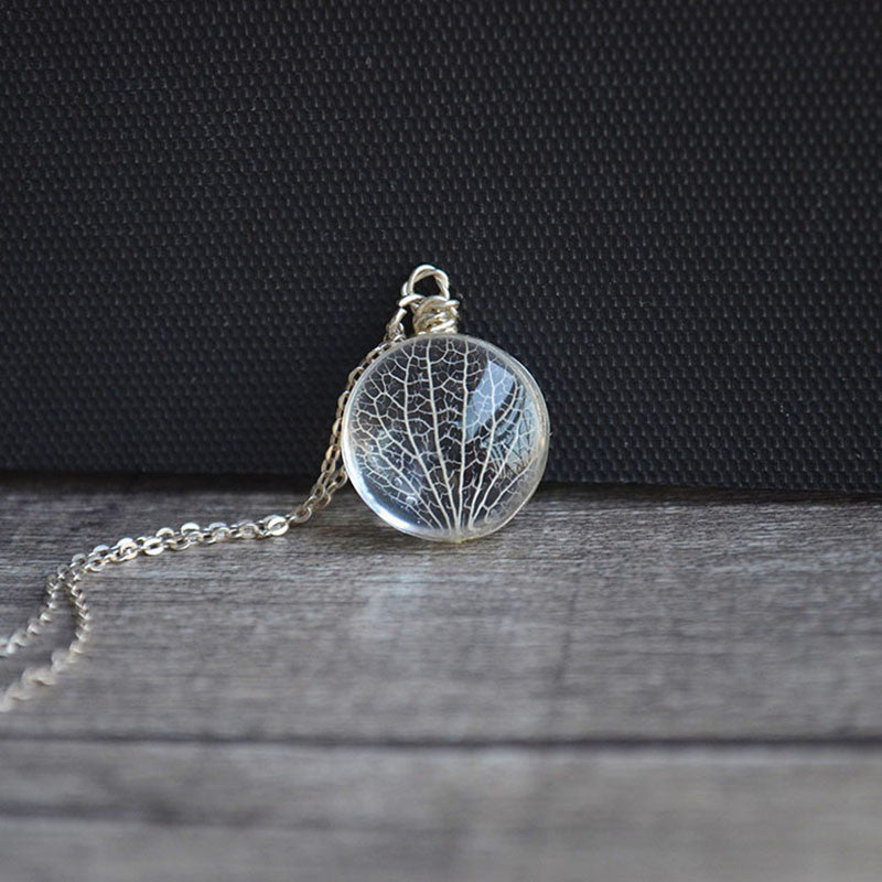 Kabbalah Tree Of Life Leaves Real Flowers Sterling Silver Chain Necklace - Awesome Sauce Gifts