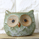 1PC Ceramic Owl Garden Pots Planters Pastoral Style Retro Creative Succulents - Awesome Sauce Gifts