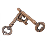 Bronze Key Cast Metal Puzzle IQ Brain Teaser for Children Adults