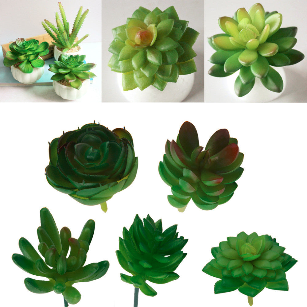 1Pc Artificial Mini Plastic Miniature Succulents Plants Art Garden Home Decor