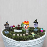 Miniature Garden Ornament 38Pcs/set Flower Fairy Dollhouse Bonsai Resin Craft Decor Terrarium Figurines Micro Landscape