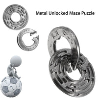 Funny Metal Unlocked Maze Puzzle Labyrinth IQ Mind Brain Teaser Educational Toy Gift Puzzle Game Toy For Children Kids