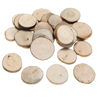 30Pcs/set 3-4cm Wood Log Slices Round Wooden Ornaments for Wedding Centerpieces Garden Micro Landscape DIY Decration