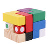3D Wooden Puzzles Kong Ming Luban Lock Chinese Traditional Toy Intellectual Brain Tease Wooden Tetris Cube Educational Toy Set