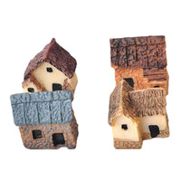 4 Pcs Cute Mini Resin House Miniature House Fairy Garden Micro Landscape Home Garden Decoration Resin Crafts