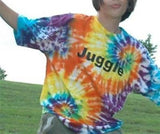 Tie Dyed Juggle Tee Shirt - Bright Colors!